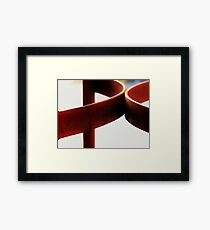 Hard Red, Soft Red Framed Print