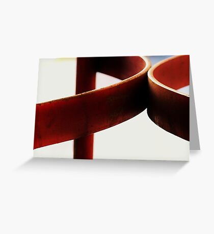 Hard Red, Soft Red Greeting Card