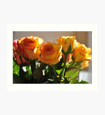 home & flowers... Art Print
