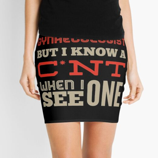 Funny Rude Gynaecology Occupations Mini Skirt