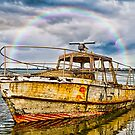 Old vandalized Boat by peter donnan