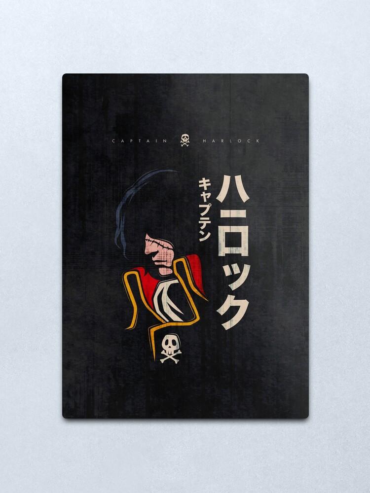 Alternate view of 045 Harlock Jap Metal Print
