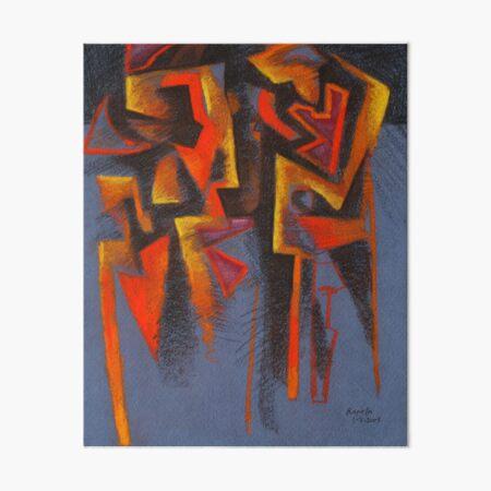Figuren in blauer Landschaft Galeriedruck