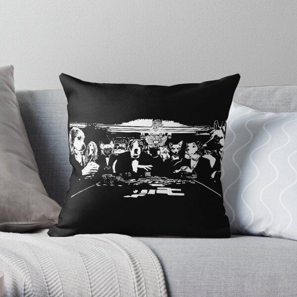 Casino Bond Dogs  Throw Pillow