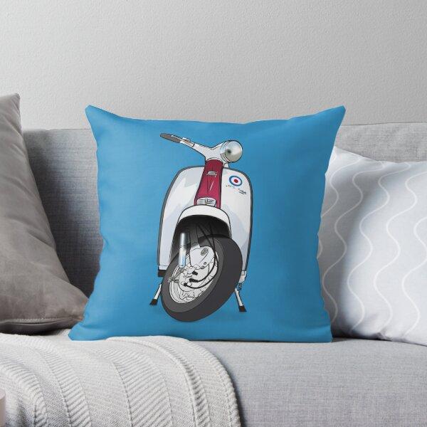 Mod Lambretta Throw Pillow