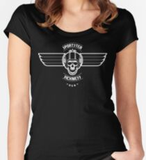 Sportster Sickness - USA Women's Fitted Scoop T-Shirt