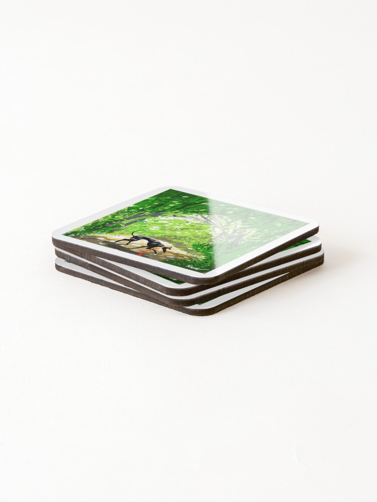 Alternate view of Woodland Shade Hound Coasters (Set of 4)