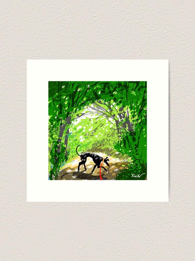 Alternate view of Woodland Shade Hound Art Print
