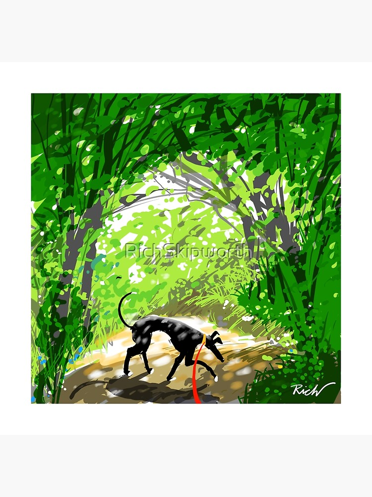 Woodland Shade Hound by RichSkipworth