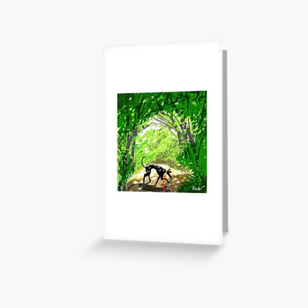 Woodland Shade Hound Greeting Card