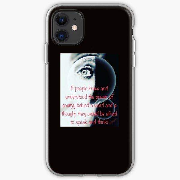 Energy behind words iPhone Soft Case