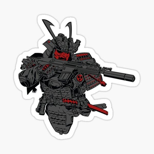 Scar-H -y Oni Red Sticker