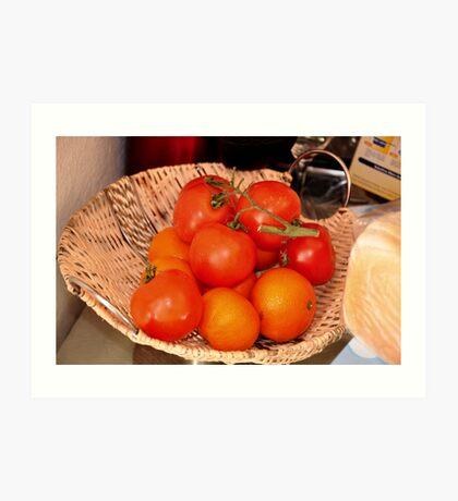 orange & tomato Art Print