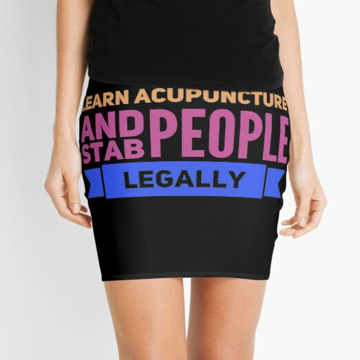 Funny acupuncture occupations Mini Skirt