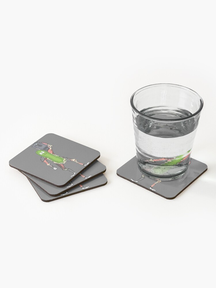 Alternate view of Pickle Rick Coasters (Set of 4)