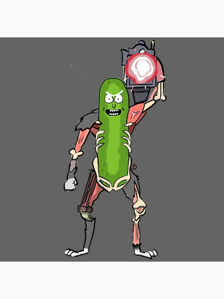 Pickle Rick with the Laser Blaster by MrTomCherry