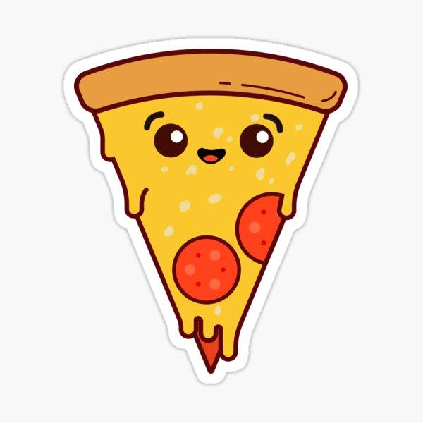 Simple Cheesy Pizza Slice Sticker