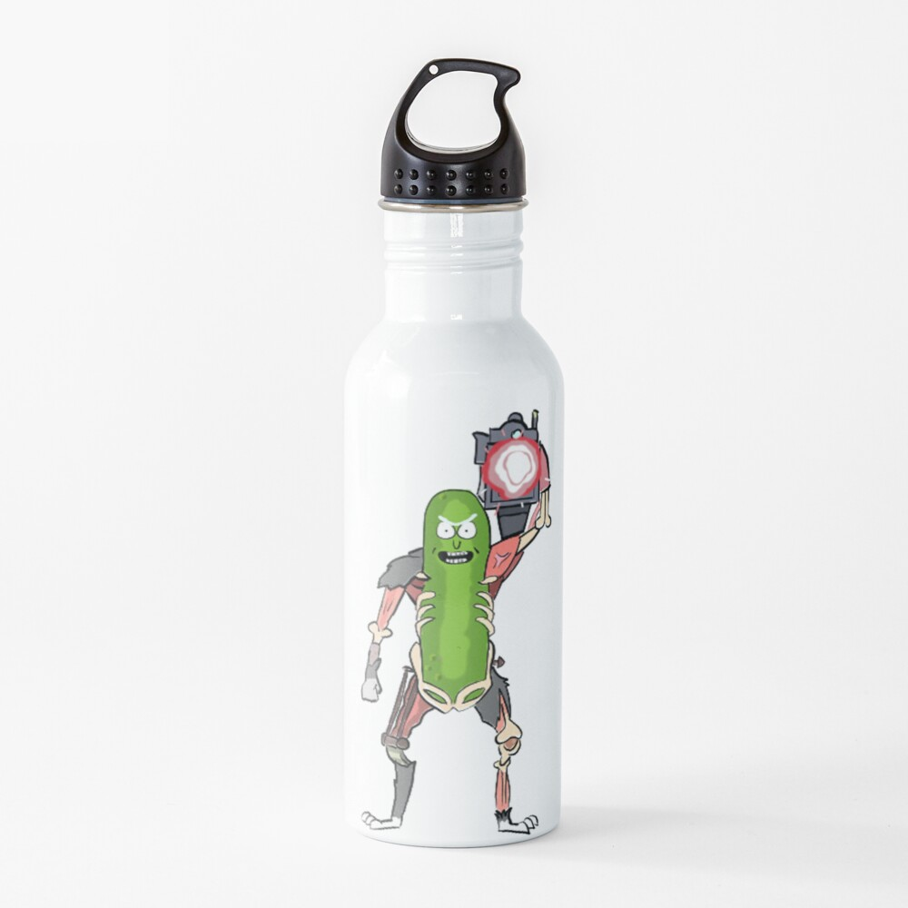 Pickle Rick with the Laser Blaster Water Bottle