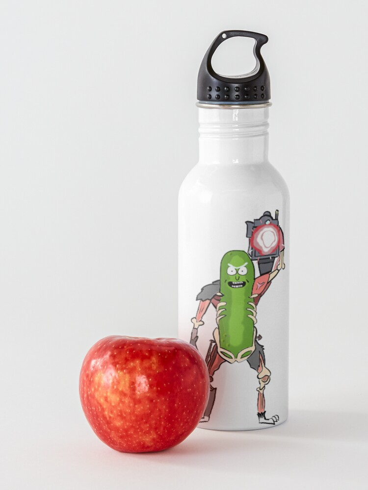 Alternate view of Pickle Rick with the Laser Blaster Water Bottle