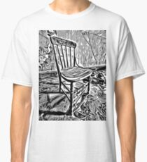 Old chair in abandoned house Classic T-Shirt
