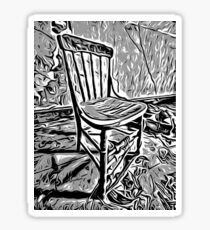 Old chair in abandoned house Sticker