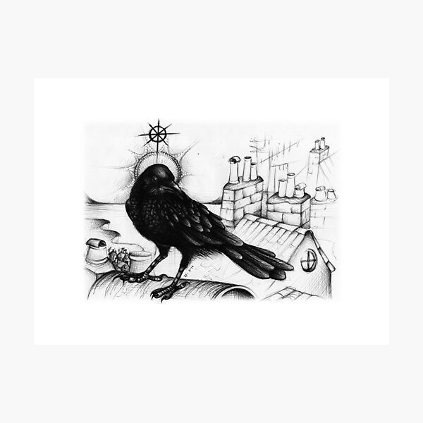 St. Wise (Saints drawing series) Photographic Print