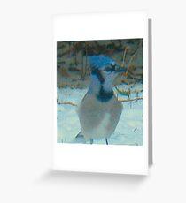 Blue visitors Greeting Card