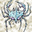 Blue and Purple Crab Watercolor by Justin Overholt