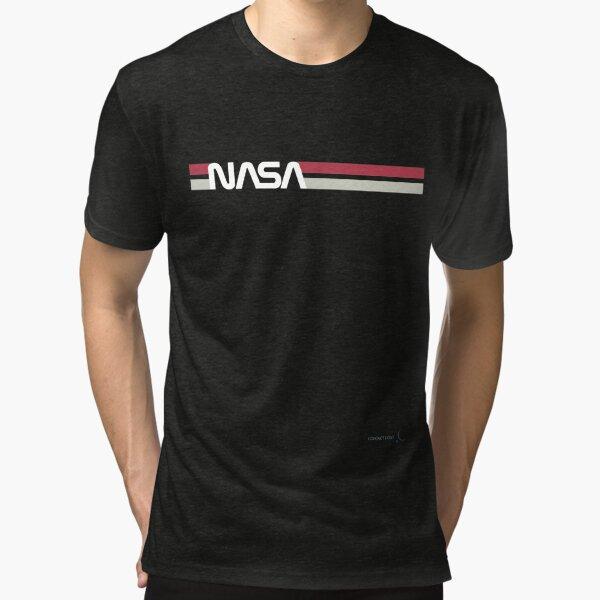 Gusano de la NASA #TheWormIsBack Camiseta de tejido mixto