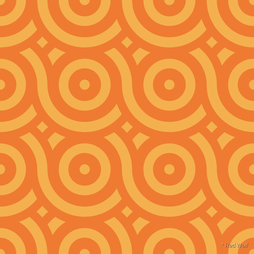 Geometric Pattern: Loop: Citrus by * Red Wolf