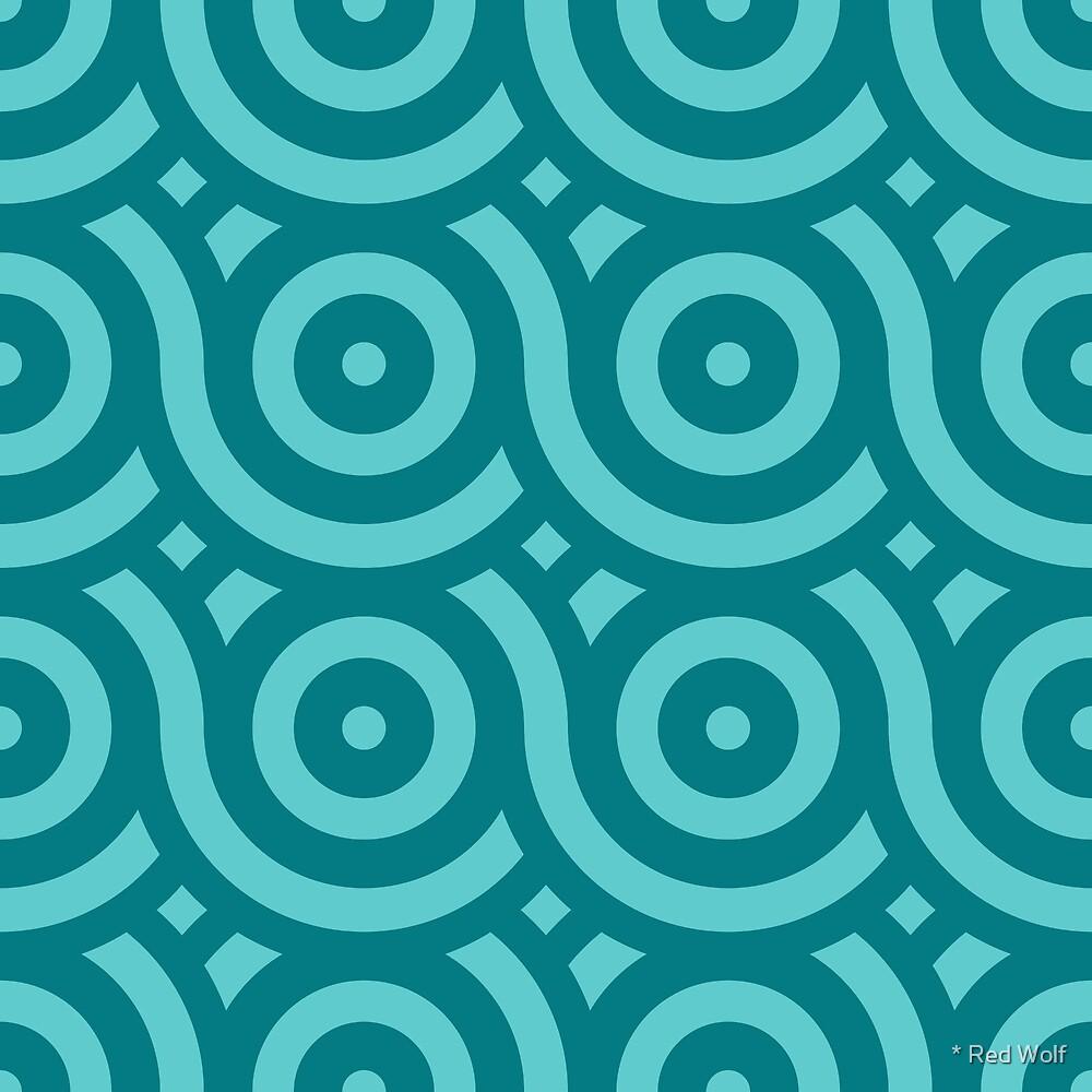 Geometric Pattern: Loop: Ocean by * Red Wolf