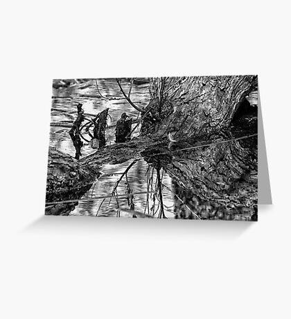 Dark Reflections Greeting Card