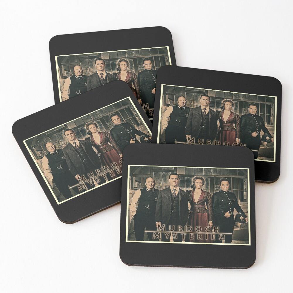 Murdoch Mysteries Dramatic Print Coasters (Set of 4)