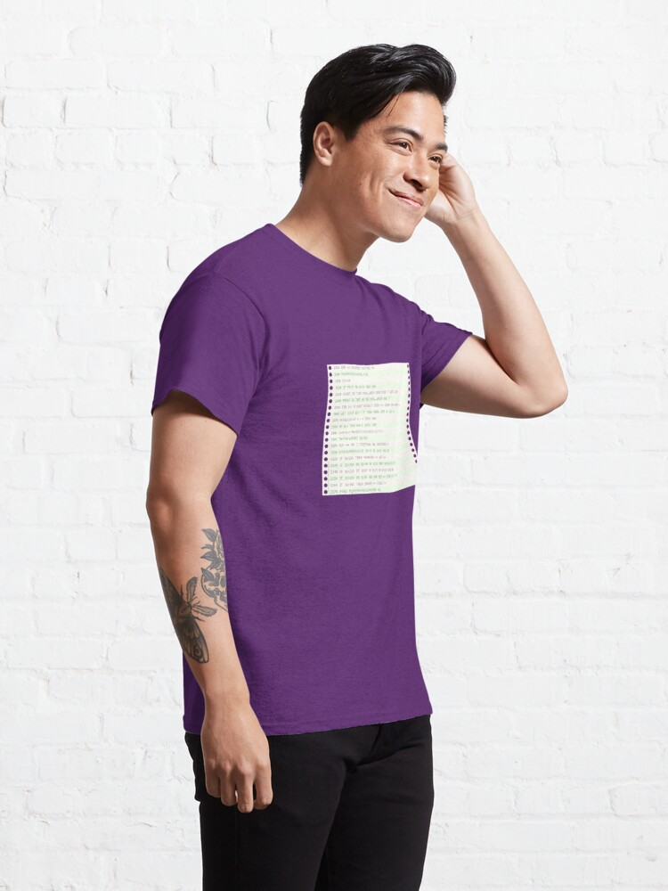 Alternate view of Listing paper (fanfold) Classic T-Shirt