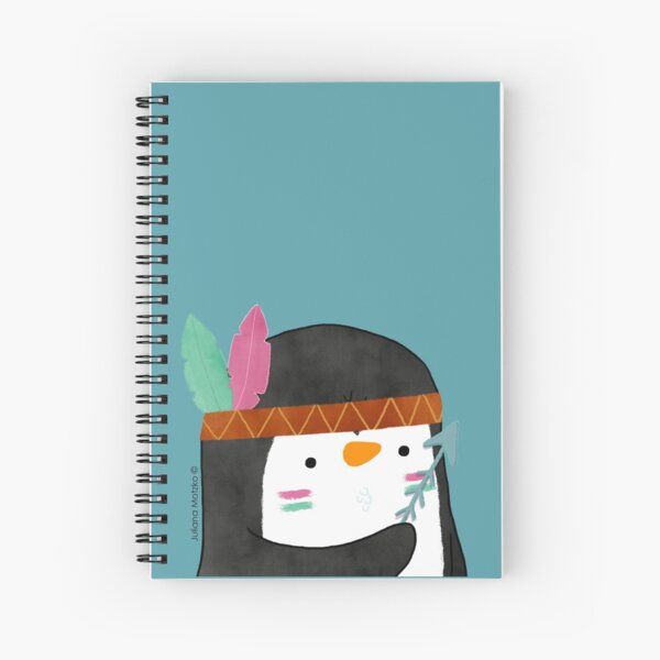Indian Penguin Spiral Notebook