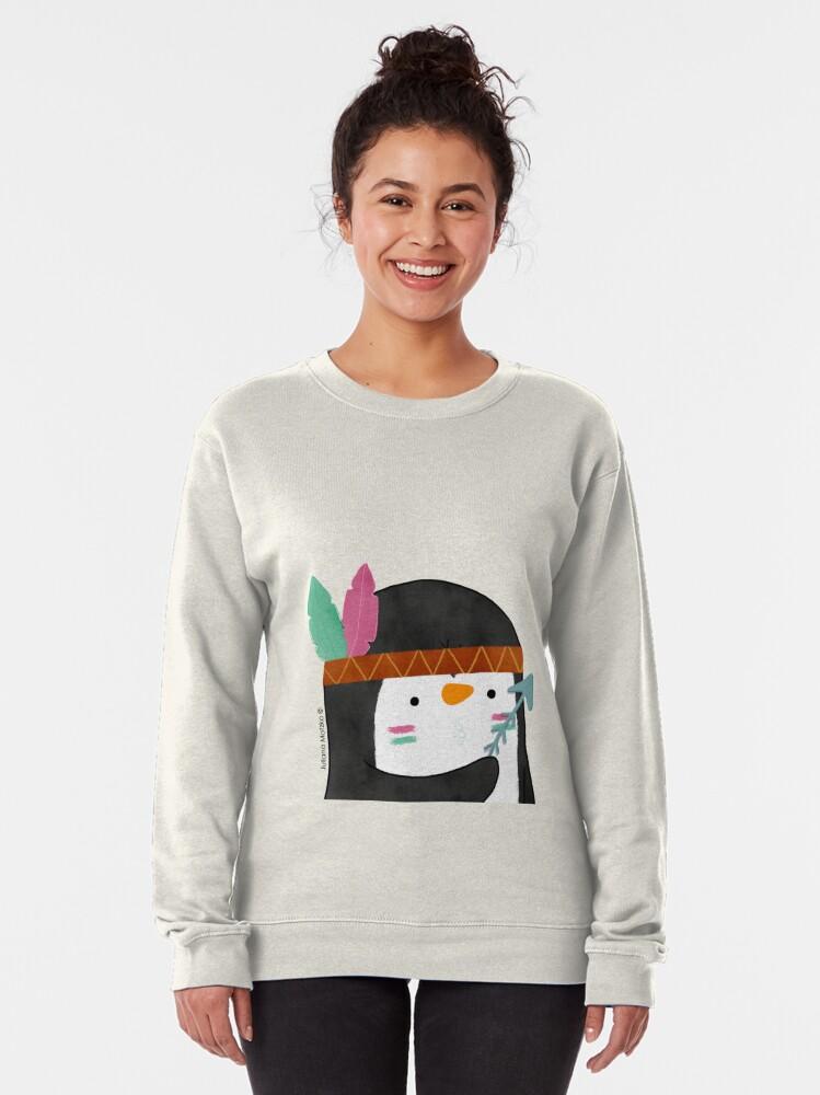 Alternate view of Indian Penguin Pullover Sweatshirt