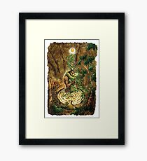 Cerne and The Goddess Framed Print