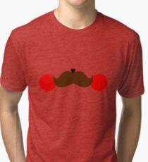 Pika-stache Tri-blend T-Shirt