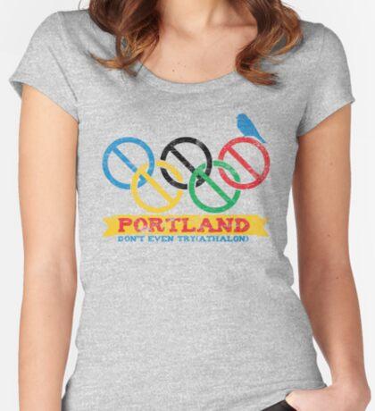Portland Nolympics Women's Fitted Scoop T-Shirt