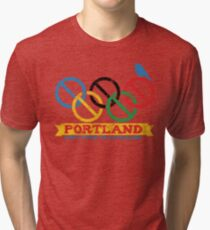Portland Nolympics Tri-blend T-Shirt