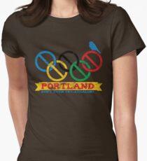 Portland Nolympics Womens Fitted T-Shirt