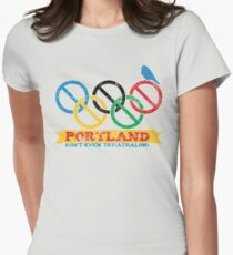 Portland Nolympics Womens Fitted T-Shirt