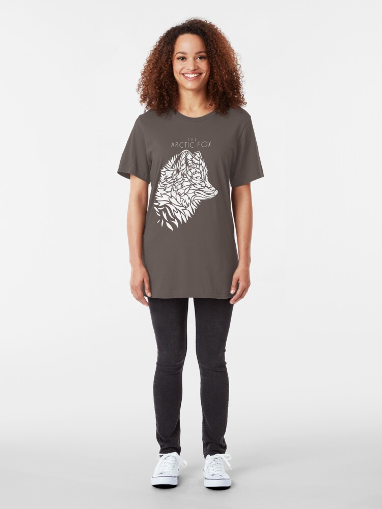 Alternate view of The Arctic Fox - white Slim Fit T-Shirt