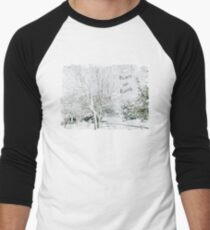 "Snow Fantasy ""Peace On Earth"" ~ Greeting Card Plus More! Men's Baseball ¾ T-Shirt"
