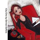 City Chic on the phone by Denise Daffara