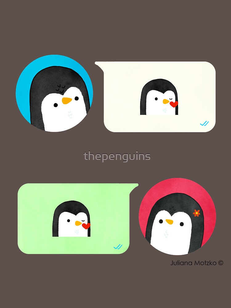 Texting Penguins by thepenguins