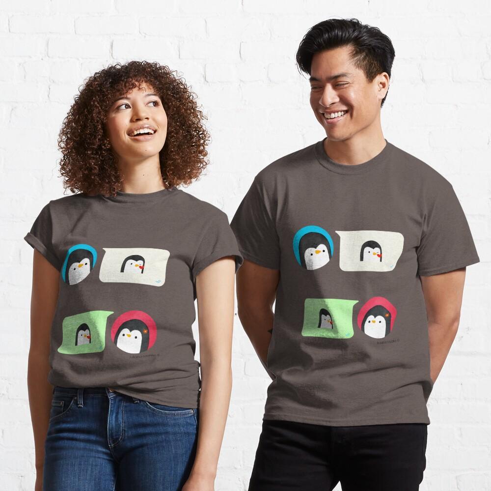Texting Penguins Classic T-Shirt