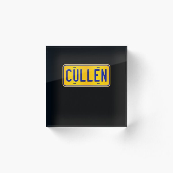 Cullen Name -  Cullen Name Custom Number Plate Gift For Family Cullen Name Acrylic Block