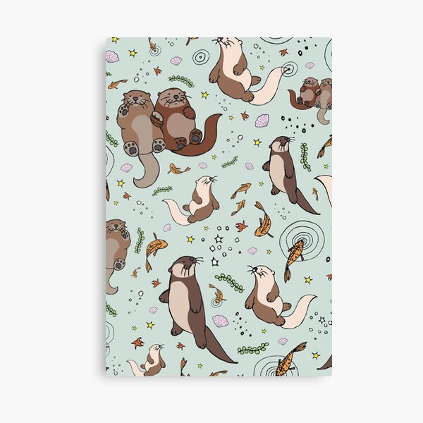 Sea Otters Canvas Print