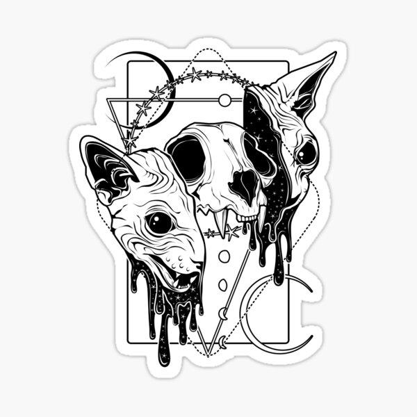 Cosmic Sphynx Sticker